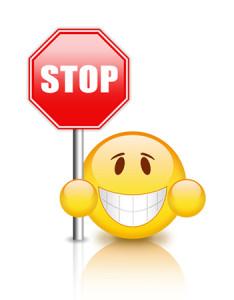 stop-emoticon