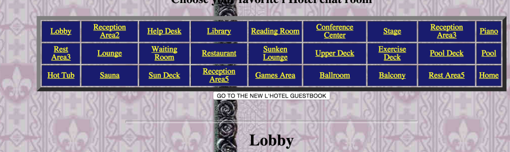 L'hotel Chat. The first chat rooms I remember.