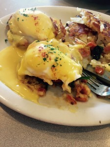 Veggie Eggs Benedict from a local diner.