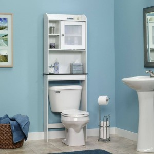 This is the storage unit I want in my bathroom. I love the colors here, too.