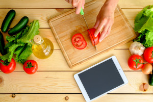 Slice away as you speak into your phone or tablet while cooking. Multitasking at its best!