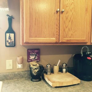 A quick glance at my counter and cabinets.