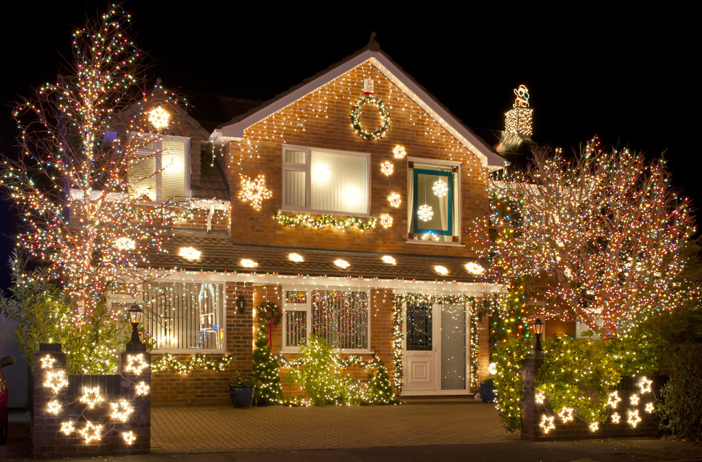 This house is all decked out.