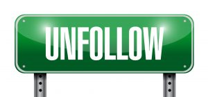 My unfollow button is getting quite the workout.